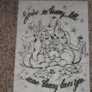 You're No Bunny # 6977 Tri Chem Preshaded Picture & Chart
