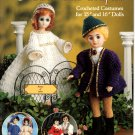 Romantic Couples Crocheted Costumes for Dolls - American School of Needlework Crochet Book 1143