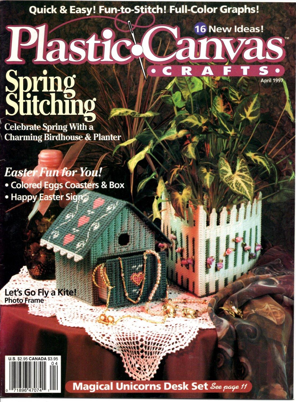 Plastic Canvas Crafts Magazine April 1997 Vol 5 No 2