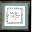 "Janlynn ""Music-Gift of God"" Cross Stitch Kit #64-10"