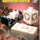 Annie's Attic Plastic Canvas Victorian Bouquet Tissue Boxes Patterns 87W53