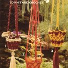 Leisure Arts Pot Hangers to Knit and Crochet - Leaflet 80