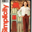 Simplicity 5869 Girls' Pants and Knit Tops Size A 7-14 - uncut