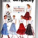 Simplicity 8193 Western Classics Misses' Set of Skirts Pattern - Size P 12-16 - Uncut