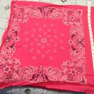 Pink Bandanna Fabric 2 designs - 4 sets - 100% Cotton