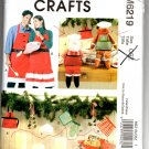 McCall's Crafts M6219 Aprons, Mitt and Christmas Decorations Pattern - Uncut