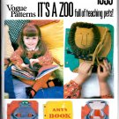 It's A Zoo full of teaching pets! Pattern - Vogue Patterns 1959 - Uncut