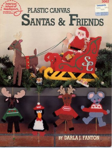 Plastic Canvas Santas & Friends American School of Needlework Booklet 3062