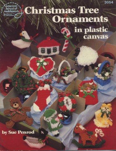 Christmas Tree Ornaments in Plastic Canvas Patterns American School of Needlework 3054