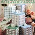 Beautiful Boutiques in Plastic Canvas Tissue Box Covers Leaflet 1579 Leisure Arts