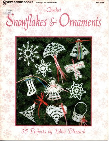 Crochet Snowflakes & Ornaments Patterns Pat Depke Books PD-4056