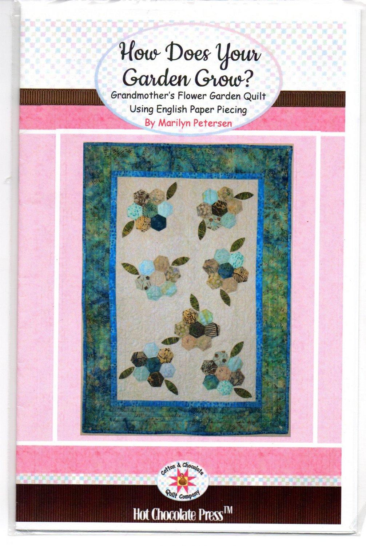 Grandmother 39 S Flower Garden Quilt Pattern 24 X 34 Hot Chocolate Press