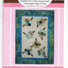 "Grandmother's Flower Garden Quilt Pattern 24"" x 34""  Hot Chocolate Press"