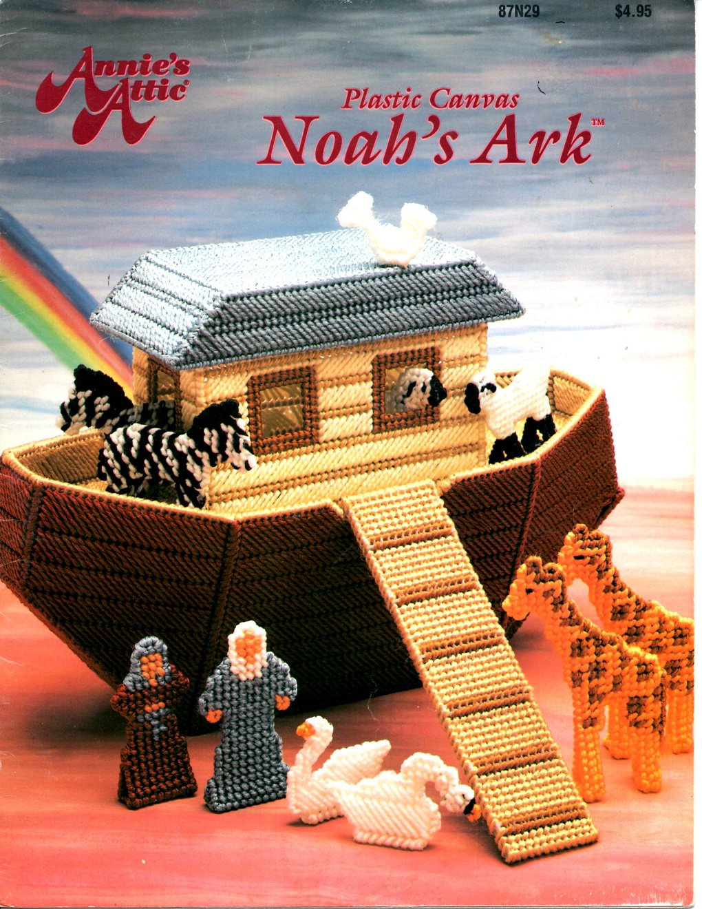 plastic canvas noah s ark pattern book   annies attic 87n29