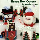 Christmas Tissue Box Covers in Plastic Canvas Pattern American School of Needlework 3053