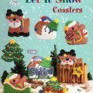 Plastic Canvas Let It Snow Coasters Pattern American School of Needlework 3207