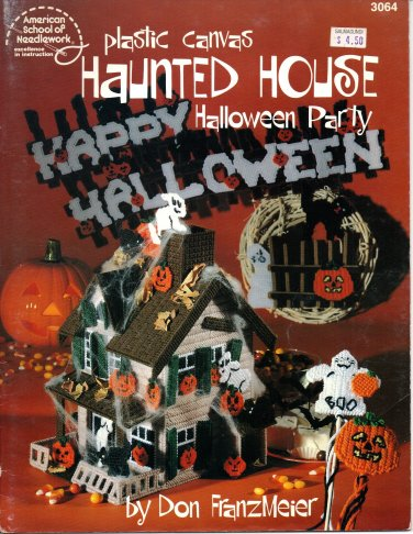 Plastic Canvas Haunted House Halloween Party Pattern