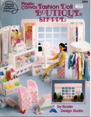 Plastic Canvas Fashion Doll Boutique Shoppe - American School of Needlework 3094