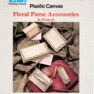 Plastic Canvas Floral Purse Accessories in 14 mesh - Nifty Publishing #36569