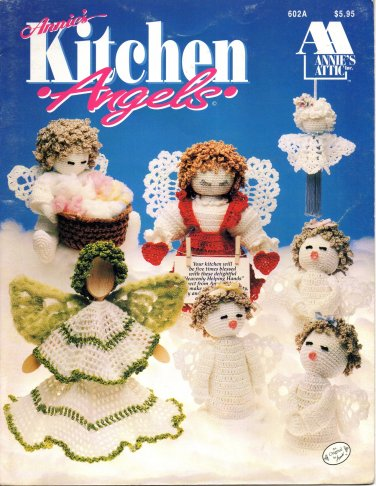Annie's Attic Kitchen Angels Crochet books - 602A Annies Attic