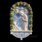 """[S21 A] 19,3/4""""X12"""" Adoration. Italian Della Robbia ceramic wall plaque"""