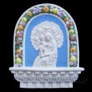 "[S63 N] 10"" x 8,1/4"" Italian Della Robbia ceramic. Madonna with child (Virgin of Boccadirio) Italy"