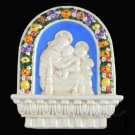 "[S64 N] 10""X8,1-4"" Italian Della Robbia Madonna child & baby St.John (Virgin of the chair), italy."