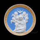 "[S98 DEC-N] 6"" Italian Della Robbia ceramic Madonna with child (Virgin of Boccadirio) Italy"