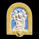 """[S99 DEC-A] 7""""x5"""" Italian Della Robbia ceramic Madonna with child (Virgin of Boccadirio). Italy."""