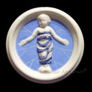 "[S140 A] 4"" Della Robbia ceramic BABY IN SWADDLING CLOTHES Hand made in Italy"