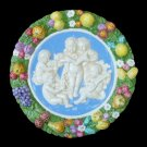 "[S57 (A)] 15,3/4"" Della Robbia ceramic plaque ANGELS Hand made in Italy"
