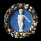 [S22 N] Della Robbia ceramic BABY IN SWADDLING CLOTHES Hand made in Italy