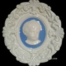 """[S47 N] 7,1/2"""" x 6,1/2"""" Della Robbia ceramic plaque ANGEL Hand made in Italy"""