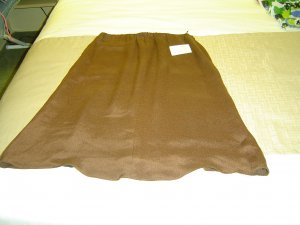 sz 8 womens Brown Silk Skirt