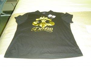 sz 1X Doreon T shirt Gold/Black