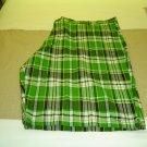 sz 54 Mens Green Striped Shorts Kani Gold