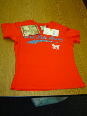 NWT Kids sz small Red Polo