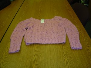 NWT sz L Juniors Rose Colored Sweater