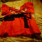 NWT sz M Top orange/black