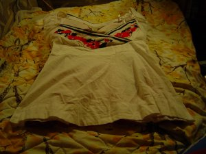 Nwt sz S white/red/black top