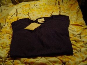 NWT sz 18/20 wide Navy Blue Blouse Kathy Lee