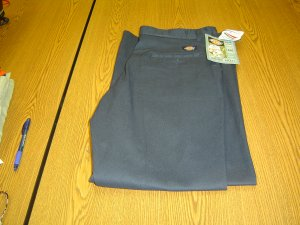 NWT sz 12 Regular Womens twill blue Dickies Work Pants Scotch Guard
