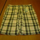 NWT sz 8 Womens IZOD Linen Shorts Pink White and Black