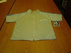 NWT sz 10 Boys zippered shirt blue/white
