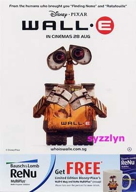 3x WALL.E Pixar Disney Promo Movie Postcard