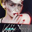 2x KYLIE MINOGUE Singapore Concert Promo Postcard RARE