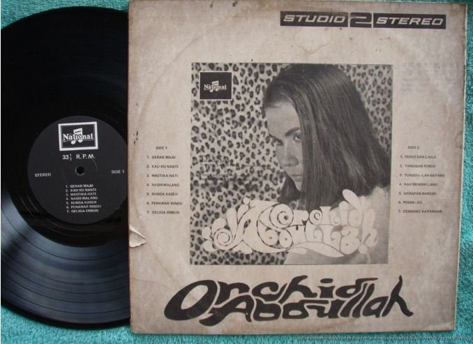ORCHID ABDULLAH Malay Psych Fuzzy pop LP (138)