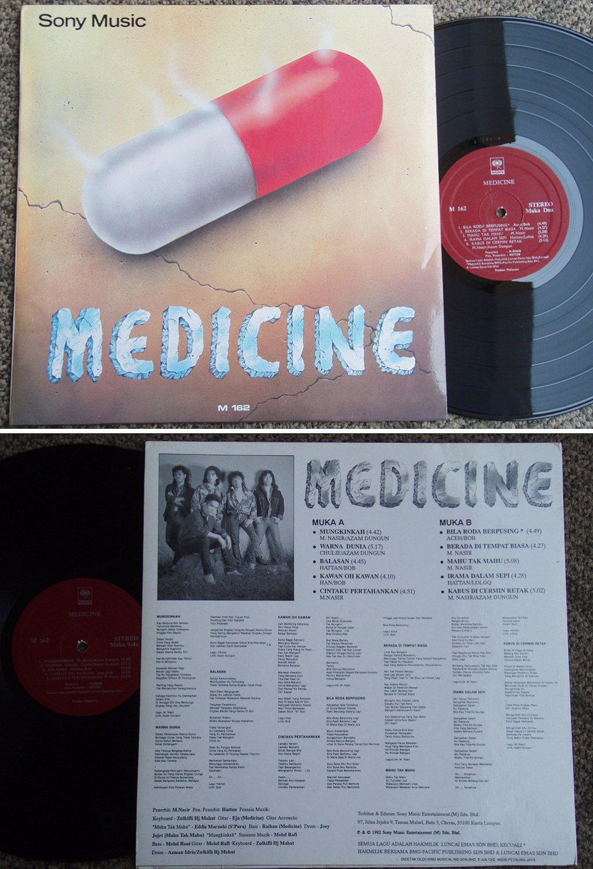 1992 MEDICINE Malay Heavy Metal/Rock Malaysia LP M162 (78)