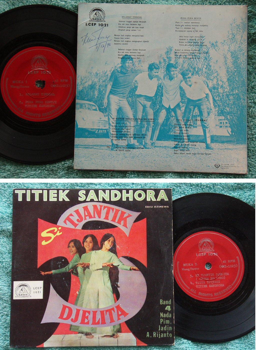 Indo TITIEK & Band 4 Nada Malay freak pop EP #1021 (592)