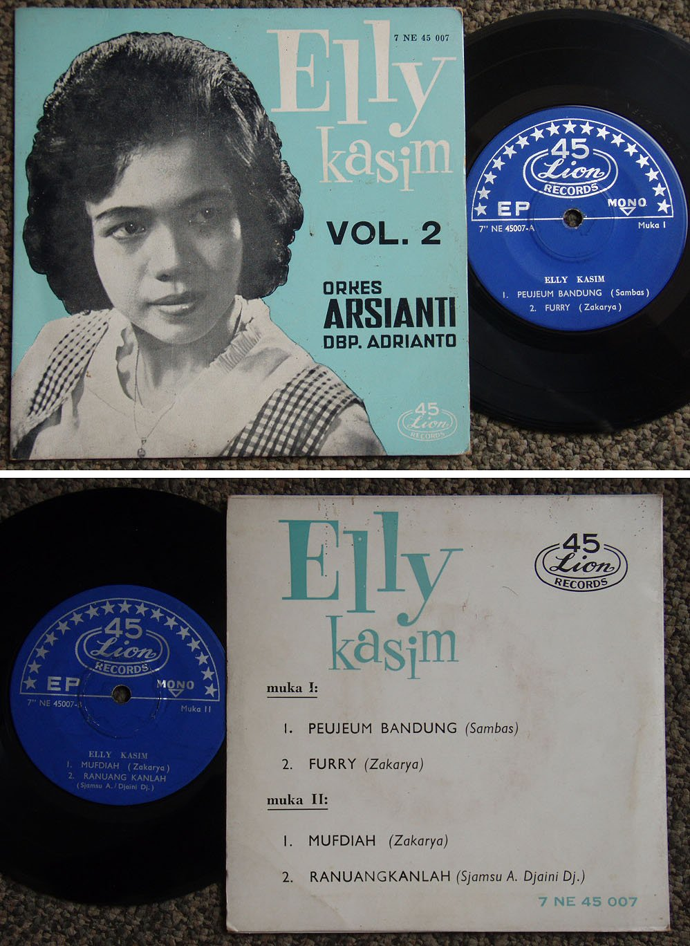 Indonesia ELLY KASIM Malay pop beat EP #45007 (590)
